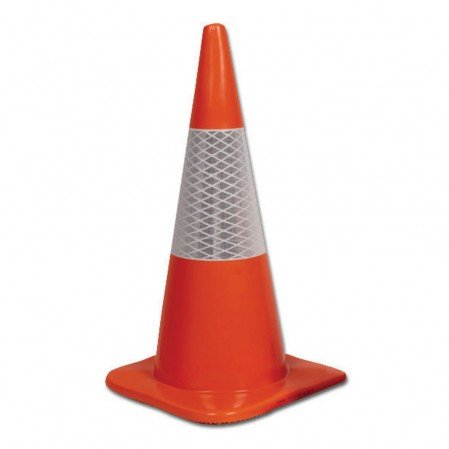 Orange Hi-Vis Reflective Cone