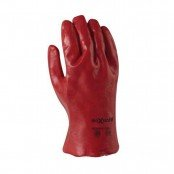 Red PVC Gauntlets 27cm