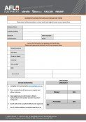 A-FLO's Return Authorisation Form